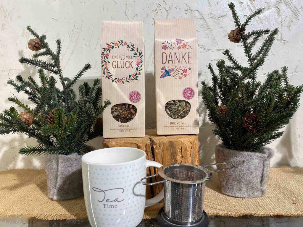Farben Millinger- Tee Tase und Tee Sieb