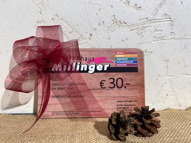 Farben Millinger- Gutscheine